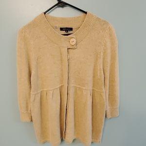 BCBG Maxazria Wool Button Sweater